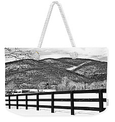 The Fenceline B W Weekender Tote Bag