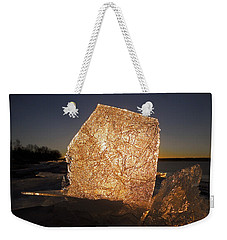 Weekender Tote Bag featuring the photograph The First Ice ... by Juergen Weiss