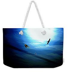 Weekender Tote Bag featuring the photograph The Flight by Miroslava Jurcik