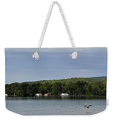 The Flight Of The Great Blue Heron Weekender Tote Bag