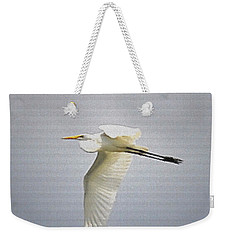 The Flight Of The Great Egret With The Stained Glass Look Weekender Tote Bag
