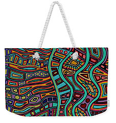 Weekender Tote Bag featuring the painting The Flow by Barbara St Jean