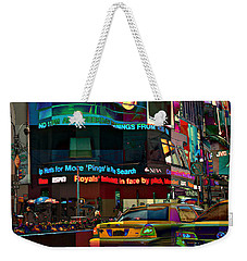 The Fluidity Of Light - Times Square Weekender Tote Bag