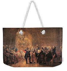 The Flute Concert Weekender Tote Bag by Adolph Friedrich Erdmann von Menzel