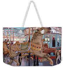 The Flying Horses Weekender Tote Bag by Margaret Bobb