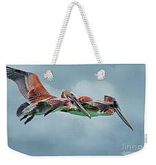 The Flying Pair Weekender Tote Bag by Deborah Benoit