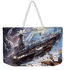 The Flying Submarine Weekender Tote Bag by Reynold Jay