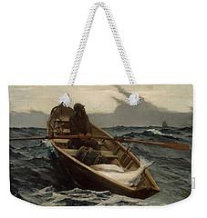The Fog Warning .halibut Fishing Weekender Tote Bag