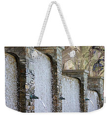 Weekender Tote Bag featuring the photograph The Fountain by Athala Carole Bruckner