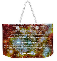The Four Agreements-wisdom Of The Toltecs Weekender Tote Bag by Eti Reid
