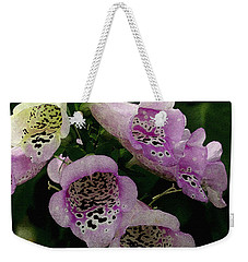 The Foxglove Weekender Tote Bag by James C Thomas