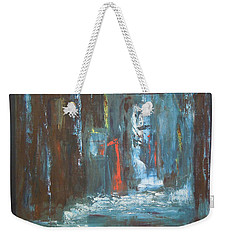 Weekender Tote Bag featuring the painting The Free Passage by Mini Arora