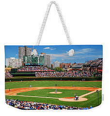 Weekender Tote Bag featuring the photograph The Friendly Confines by James Kirkikis