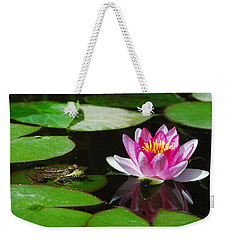 The Frog And The Lily Weekender Tote Bag