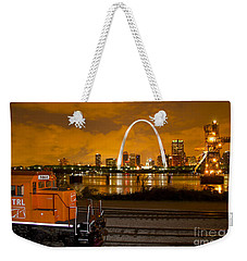 The Ftrl Railway With St Louis In The Background Weekender Tote Bag