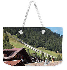 The Funicular In Murren Weekender Tote Bag