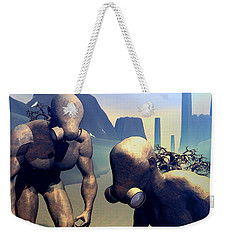 Weekender Tote Bag featuring the digital art The Future Ancients by John Alexander