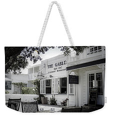 Weekender Tote Bag featuring the photograph The Gable In Russell by Julie Palencia