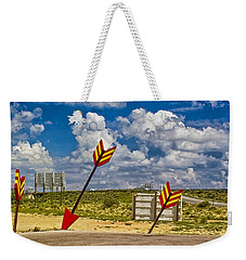 The Gallop Arrows Weekender Tote Bag by Gary Warnimont