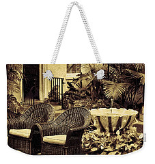 Weekender Tote Bag featuring the photograph The Garden Room by Jean Goodwin Brooks
