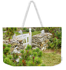Weekender Tote Bag featuring the photograph The Gate By The Sea by Jean Goodwin Brooks