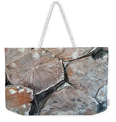 Weekender Tote Bag featuring the painting The Giant's Causeway by Brenda Brown