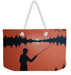 Weekender Tote Bag featuring the painting The Golden Hour by Norm Starks