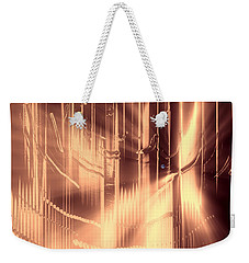 Weekender Tote Bag featuring the photograph Golden Realm by Kellice Swaggerty