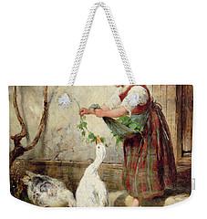 The Goose Girl Weekender Tote Bag