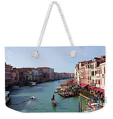 The Grand Canal Venice Oil Effect Weekender Tote Bag by Tom Prendergast