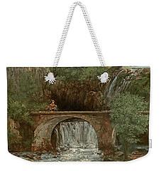The Great Bridge, 1864 Weekender Tote Bag by Gustave Courbet