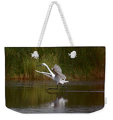 Weekender Tote Bag featuring the photograph The Great Egret by Leticia Latocki