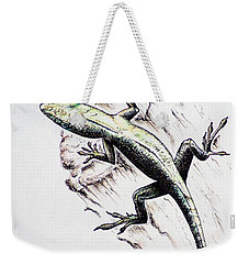 The Green Lizard Weekender Tote Bag by Katharina Filus