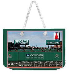 The Green Monster Fenway Park Weekender Tote Bag