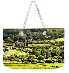 Weekender Tote Bag featuring the photograph The Green Valley Of Poisoned Glen by Charlie and Norma Brock