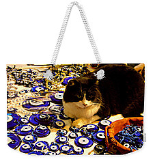 The Guard Of Evil Eye Beads Weekender Tote Bag by Zafer Gurel