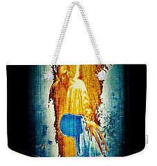 Weekender Tote Bag featuring the digital art The Guardian Angel by Absinthe Art By Michelle LeAnn Scott