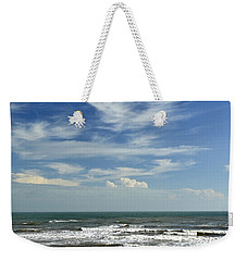 The Gulf Of Mexico From Galveston Weekender Tote Bag