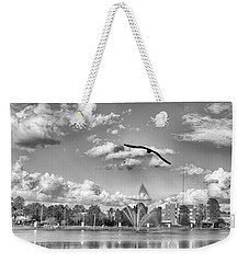 Weekender Tote Bag featuring the photograph The Gull by Howard Salmon