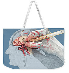 The Hand Knows Weekender Tote Bag by Catherine Twomey