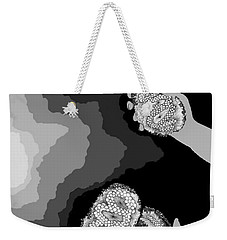 Weekender Tote Bag featuring the digital art The Hand-off by Carol Jacobs