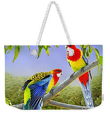The Happy Couple - Eastern Rosellas  Weekender Tote Bag