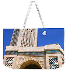 Weekender Tote Bag featuring the photograph The Hassan II Mosque Grand Mosque With The Worlds Tallest 210m Minaret Sour Jdid Casablanca Morocco by Ralph A  Ledergerber-Photography