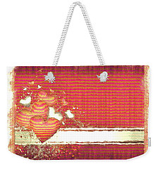 Weekender Tote Bag featuring the digital art The Heart Knows by Liane Wright