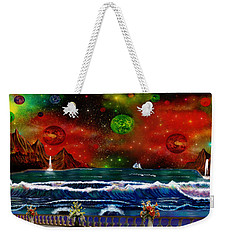 Weekender Tote Bag featuring the painting The Heavens by Michael Rucker