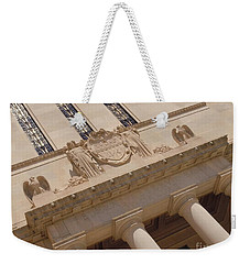 Weekender Tote Bag featuring the photograph The Historical Federal Reserve Bank Of Dallas by Robert ONeil