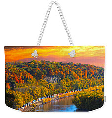 The Hobo Train Up The Mississippi Weekender Tote Bag