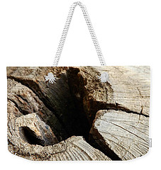 Weekender Tote Bag featuring the photograph The Hole by Clare Bevan