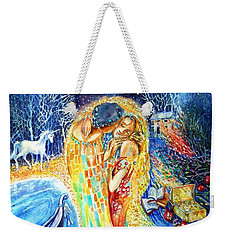 The Homecoming Kiss After Gustav Klimt Weekender Tote Bag by Trudi Doyle