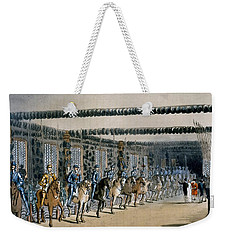 The Horse Armour Tower, Print Made Weekender Tote Bag by T. & Pugin, A.C. Rowlandson
